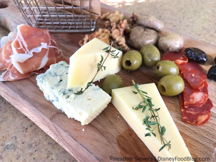 Cheeses on the Charcuterie at Alfresco Tasting Terrace