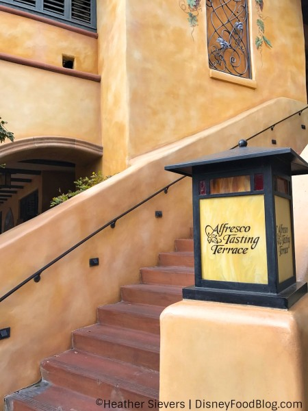 Stairs to Alfresco Tasting Terrace