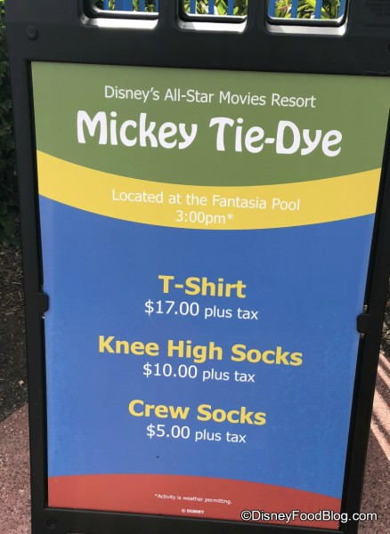 Mickey Tie-Dye has added Knee High Socks Option at all three All-Star Resorts