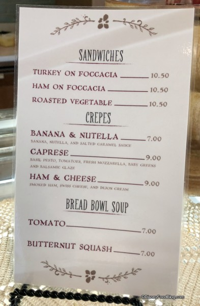 Amorette's Patisserie Bread Bowl Menu