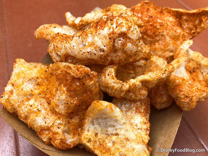 So much seasoning on the Chicarrons at Golden Oak Outpost