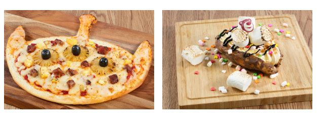 Toy Box Cafe Alien Pizza and Baked Sweet Potato ©Disney