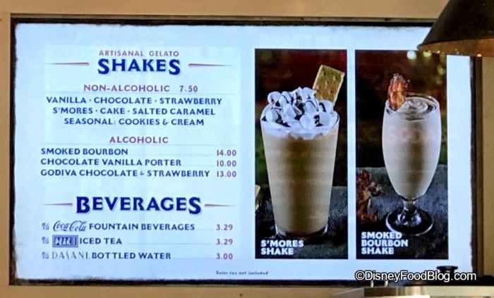 Cookies and Cream Seasonal Shake at D-Luxe Burger