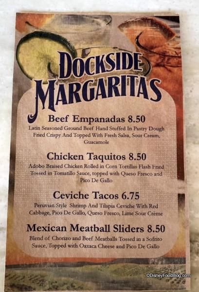 Fantasy Fare Dockside Margaritas