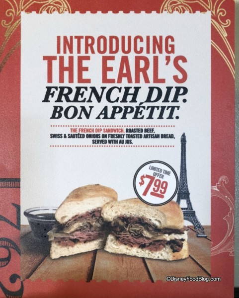 French Dip at Earl of Sandwich