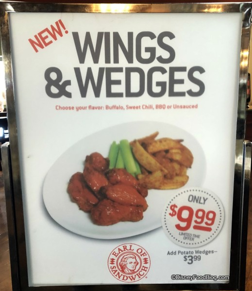 Wings and Wedges at Earl of Sandwich