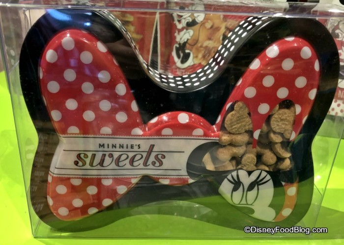 Minnie's Sweets Mini Snickerdoodle Cookies in a Bow Tin