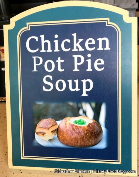 Seasonal Chicken Pot Pie Soup Sign