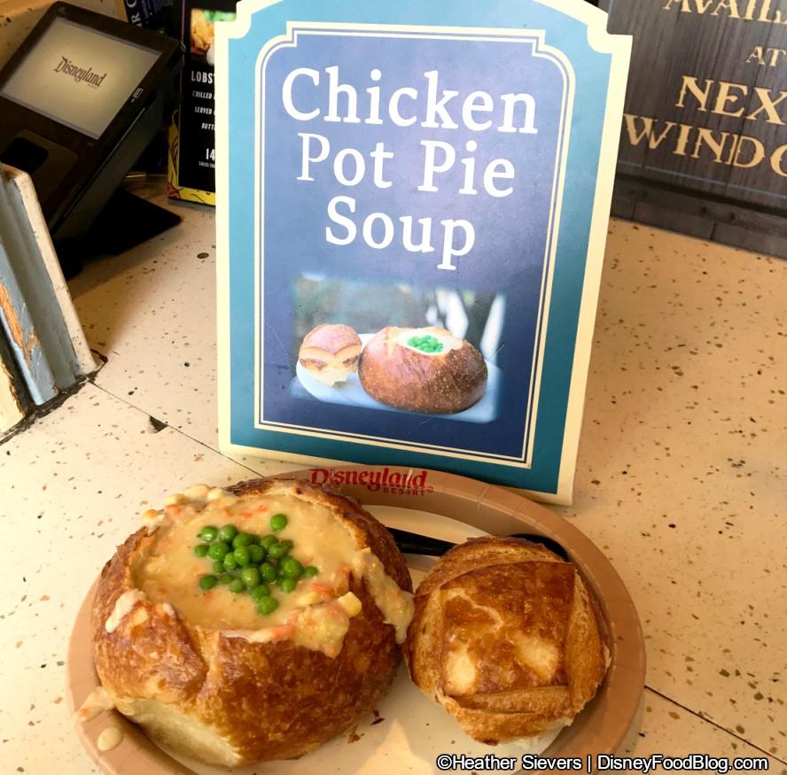 New! Seasonal Chicken Pot Pie Soup at Disneyland's Harbour ...