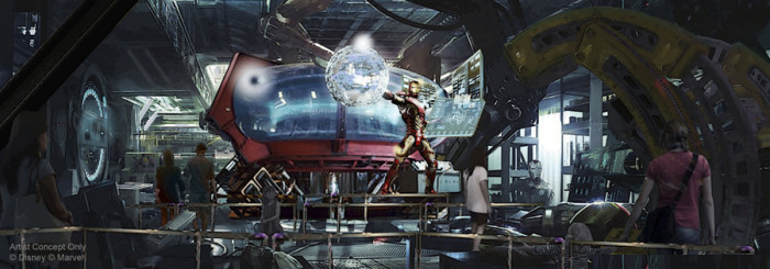 Marvel Attraction Concept Art ©Disney
