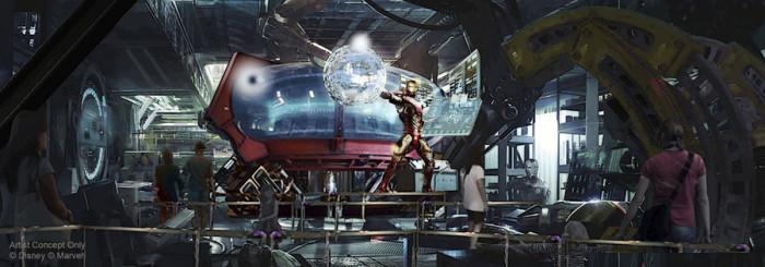 Marvel Attraction Concept Art ©Disney