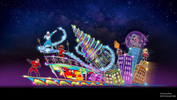 Incredibles Float Concept Art ©Disney