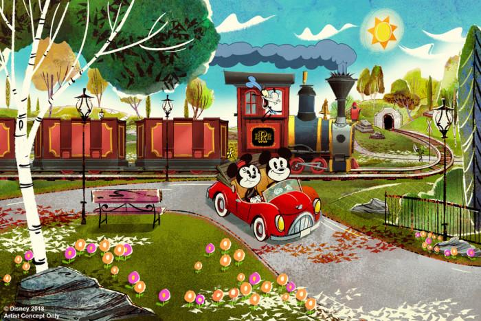 Mickey & Minnie's Runaway Railway Concept Art ©Disney