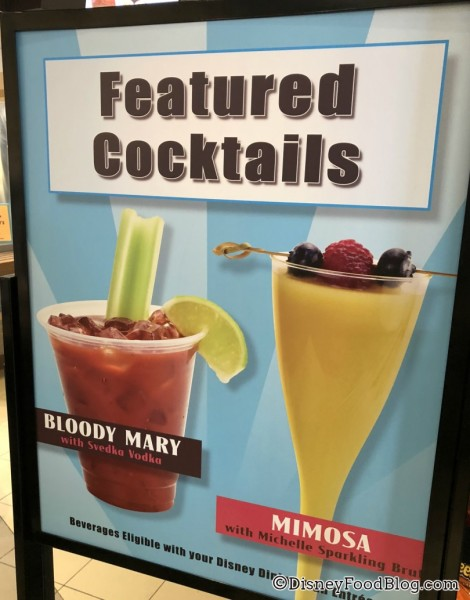 Featured Cocktails at Intermission Food Court