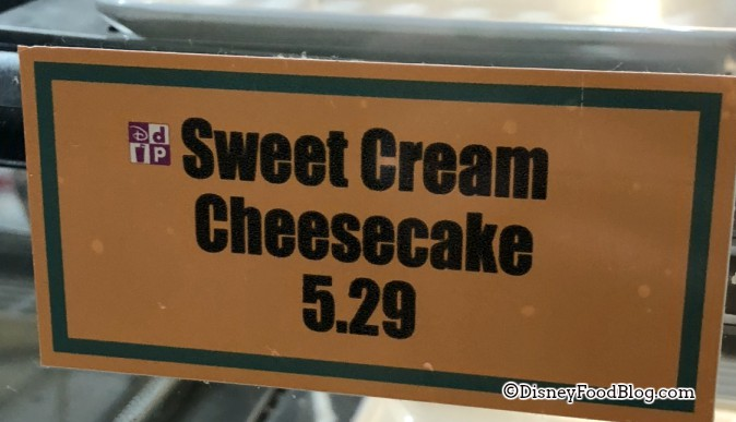 Sweet Cream Cheesecake at Intermission Food Court, All-Star Music
