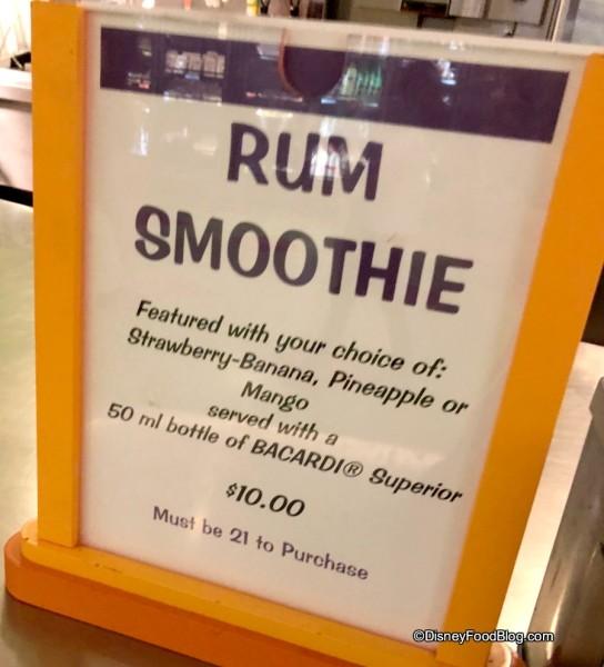 Rum Smoothie at Landscapes of Flavor