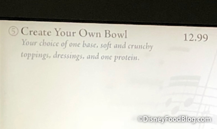 Create Your Own Bowl