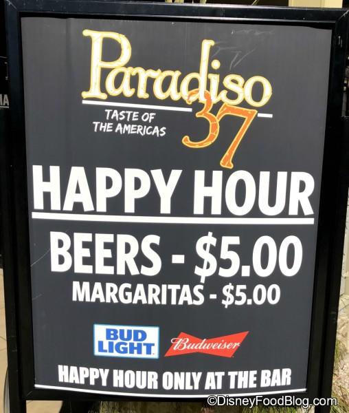 Paradiso 37 Happy Hour!