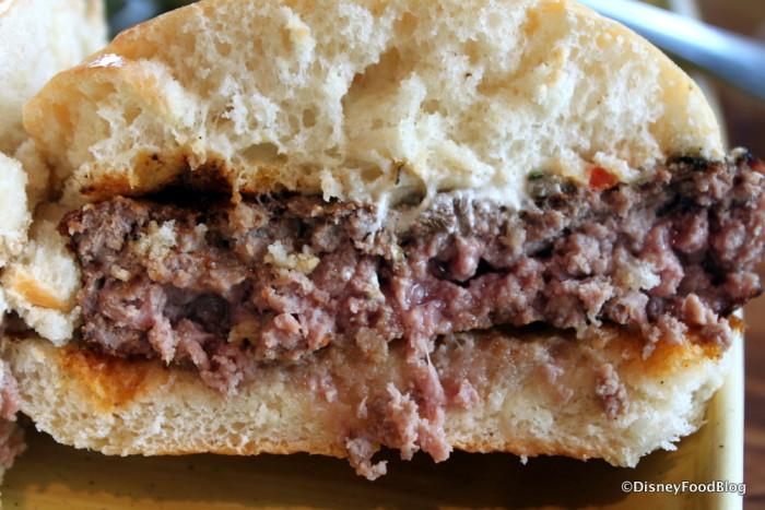 Perfectly cooked Sanaa Burger