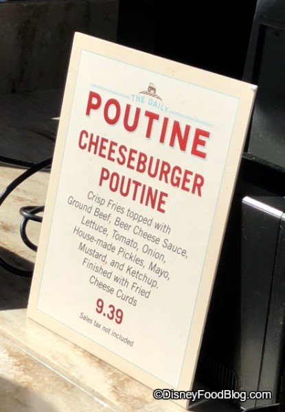 Cheeseburger Poutine is back at The Daily Poutine!