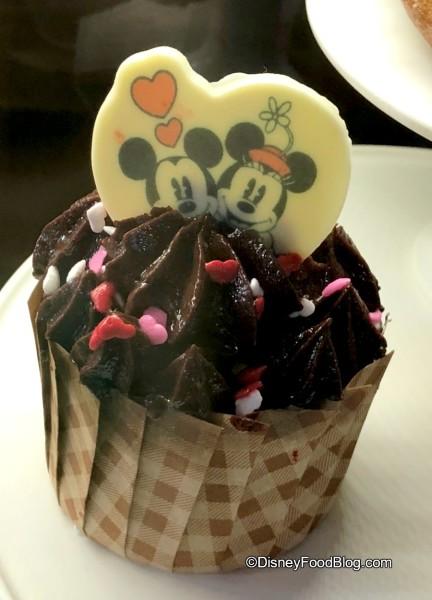 Red Velvet Cupcake at Trolley Car Cafe