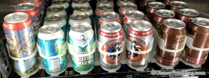 Canned Beer at World Premier Food Court at All-Star Movies