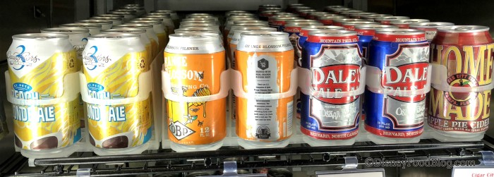 Canned beer at World Premier Food Court