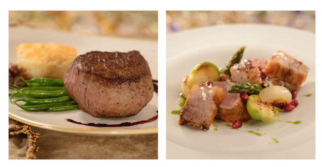 Entree selections will include Filet Mignon ©Disney