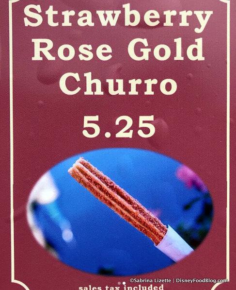 Rose Gold Churro sign