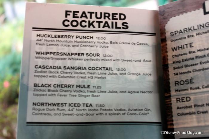 Geyser Point Featured Cocktails