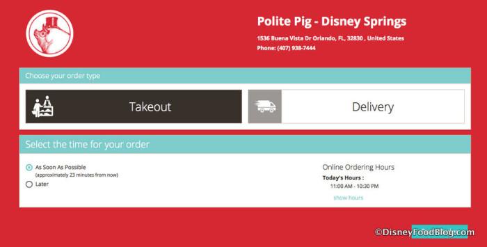 The Polite Pig website screenshot