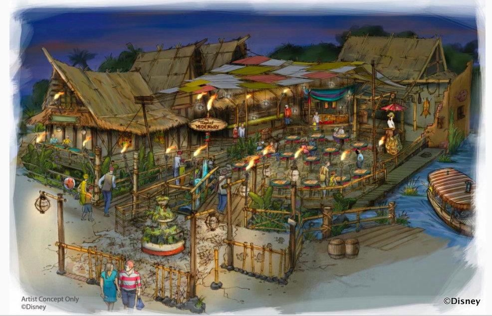 Tropical Hideaway Concept Art for Disneyland