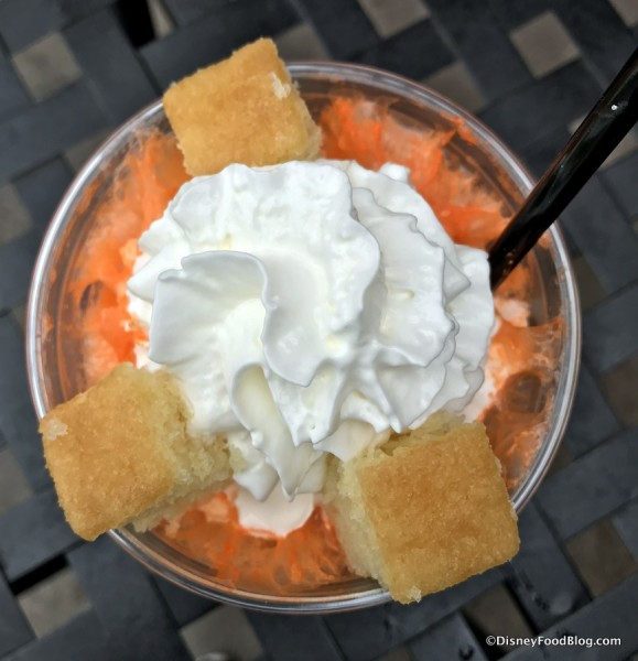 Orange-Vanilla Cream Float with Whipped Cream (non-alcoholic)