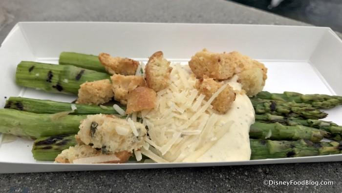 Grilled Asparagus Ceasar Salad