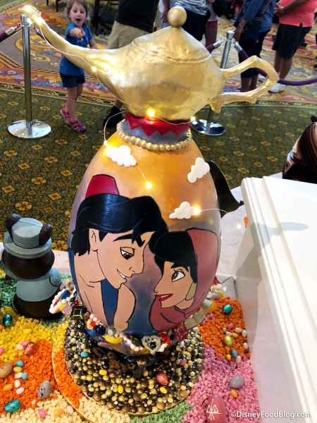 Aladdin egg with light up lantern