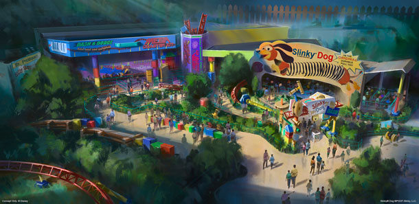 Slinky Dog Dash Entrance Concept Art