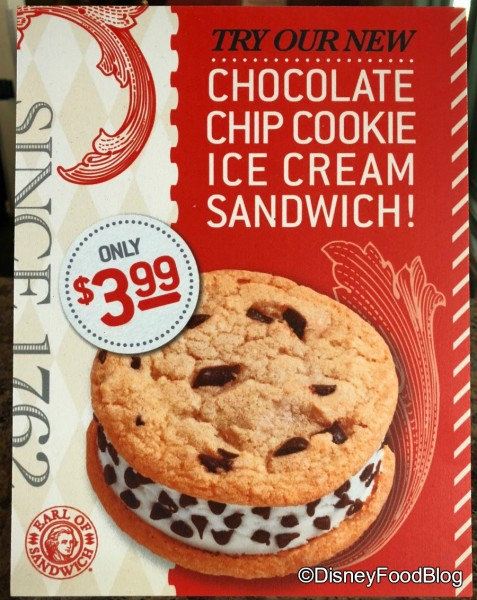 Earl of Sandwich Ice Cream Sandwich