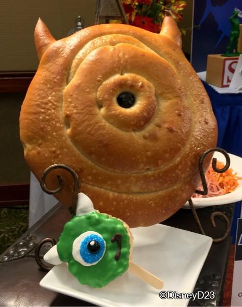 Mike Wazowski Bread and Krispie Treat