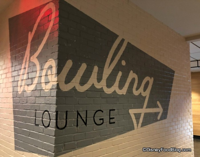 Bowling Lounge this way!