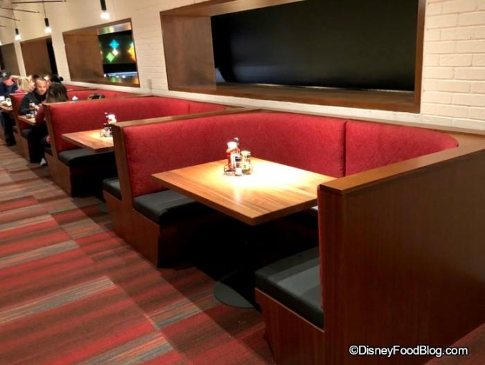 Banquet seating at Splitsville.