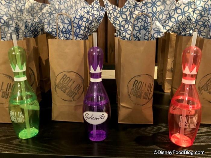 Fun Bowling Pin Bottles and Gift Bags