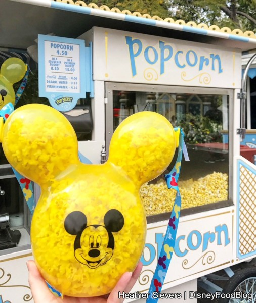 Yellow Mickey Balloon Popcorn Bucket!
