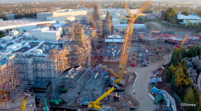 Galaxy's Edge Construction in Disneyland