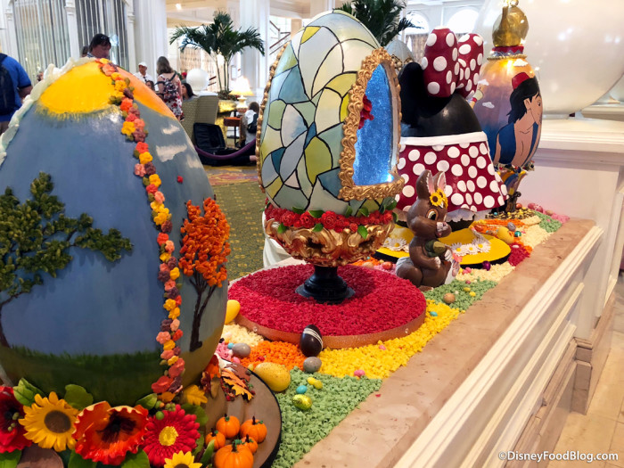 Eggs on display at Grand Floridian