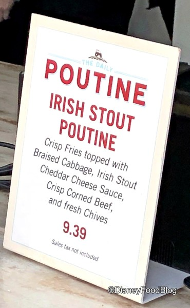 Irish Stout Poutine at The Daily Poutine