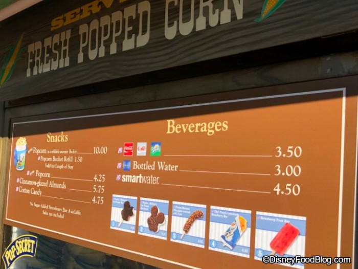 Maple Popcorn is no more at the Frontierland Popcorn Cart