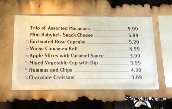 Gaston's Tavern Menu with Babybel Cheese