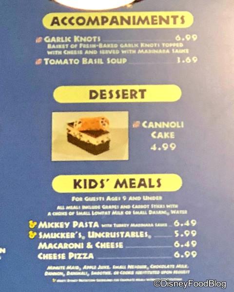 Cannoli Cake now at Pizzafari