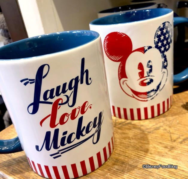 Red, White, and Blue Mickey Mugs at Marketplace Co-Op