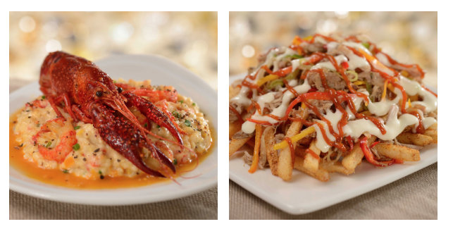 Three Cheese Grits and Loaded Red Curry Duck Fries ©Disney